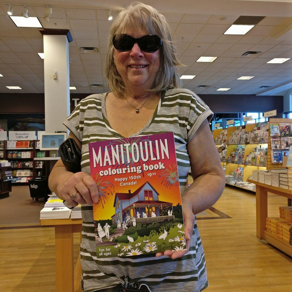 manitoulin coloring book chapters indigo signing sudbury ontario canada publishing