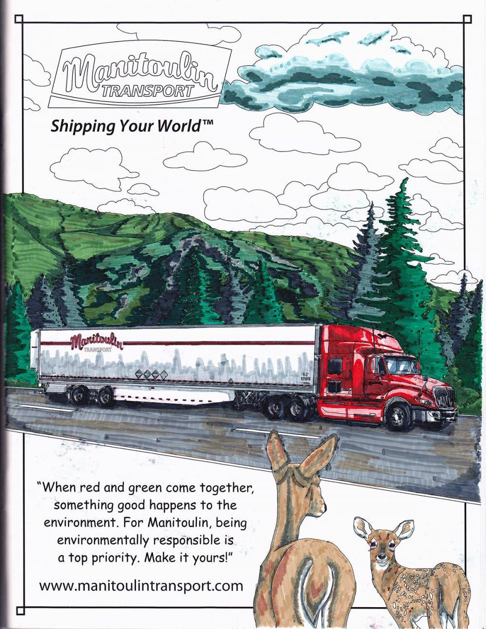 manitoulin transport coloring books adult transportation